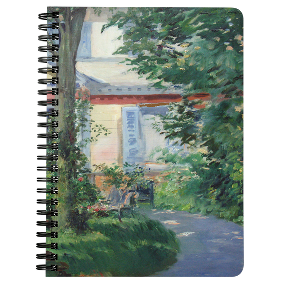 House in Rueil by Manet - Spiralbound Notebook