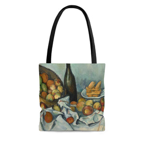 The Basket of Apples by Cezanne - Cloth Tote Bag