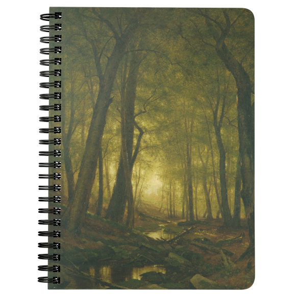 Evening in the Woods by Whittredge - Spiralbound Notebook