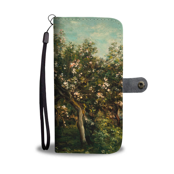 Apple Blossoms by Daubigny Wallet Phone Case