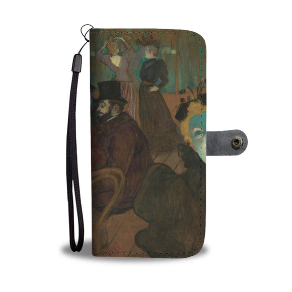 At the Moulin Rouge by Toulouse-Lautrec - Wallet Phone Case
