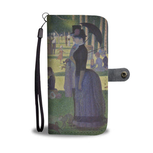A Sunday on La Grande Jatte by Seurat - Wallet Phone Case