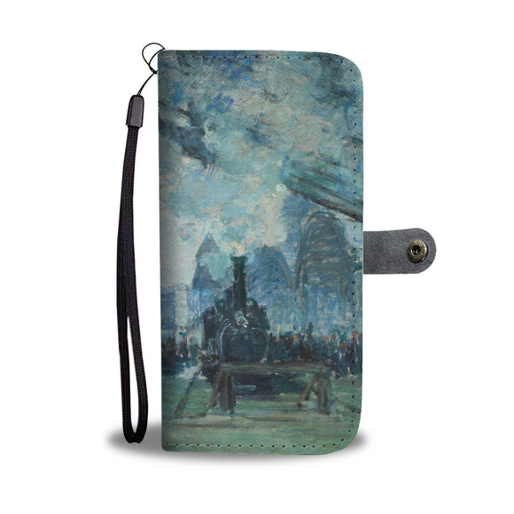 Arrival of the Normandy Train by Monet - Wallet Phone Case