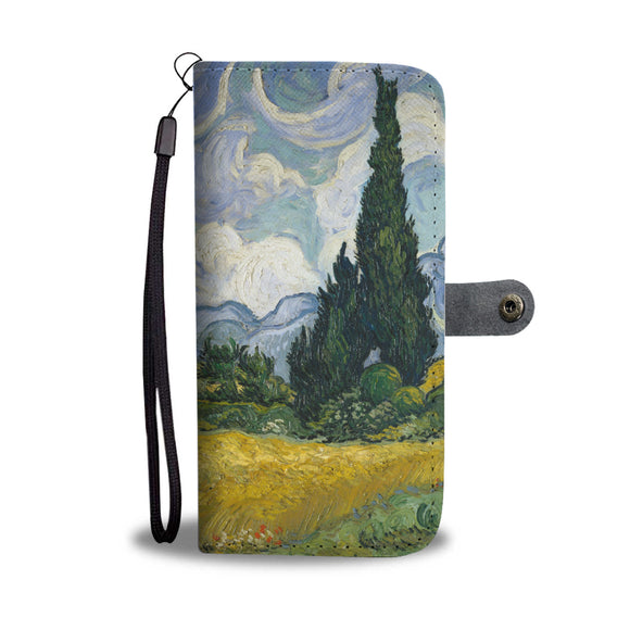 Wheat Field with Cypresses by van Gogh - Wallet Phone Case