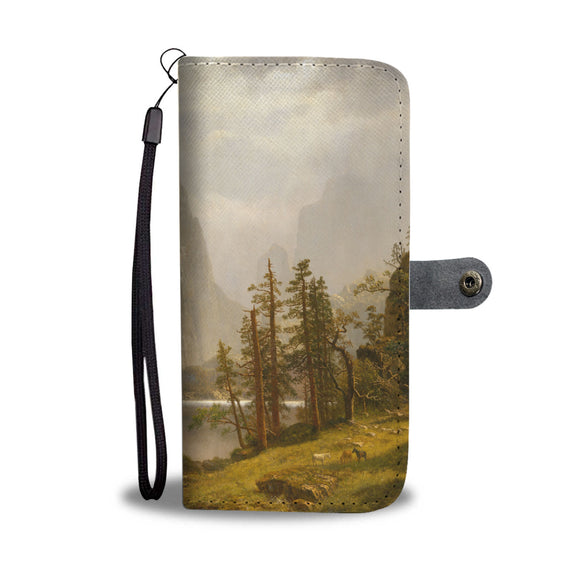 Merced River, Yosemite Valley by Bierstadt - Wallet Phone Case