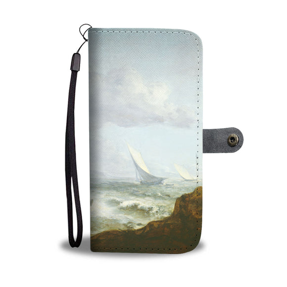 Seashore with Fishermen by Gainsborough - Wallet Phone Case