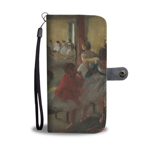 The Dance Class by Degas - Wallet Phone Case