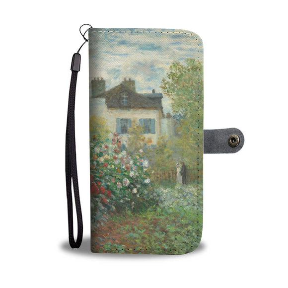 The Artist's Garden at Argenteuil by Monet - Wallet Phone Case