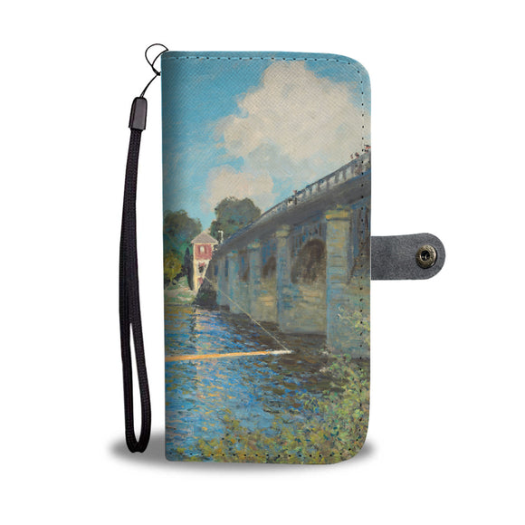 The Bridge at Argenteuil by Monet - Wallet Phone Case
