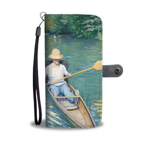 Skiffs by Caillebotte - Wallet Phone Case
