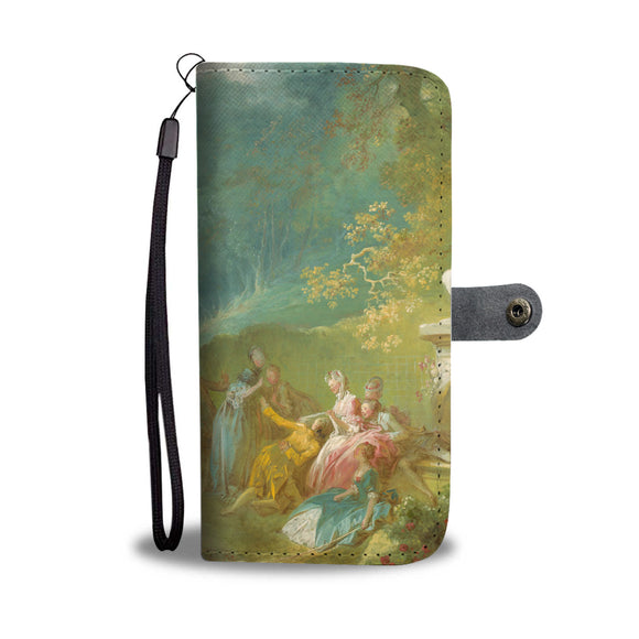 A Game of Hot Cockles by Fragonard - Wallet Phone Case