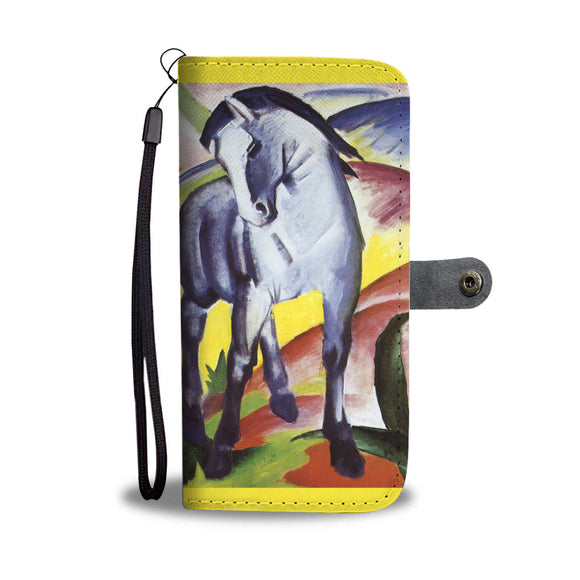 Blue Horse I & II by Marc - Wallet Phone Case