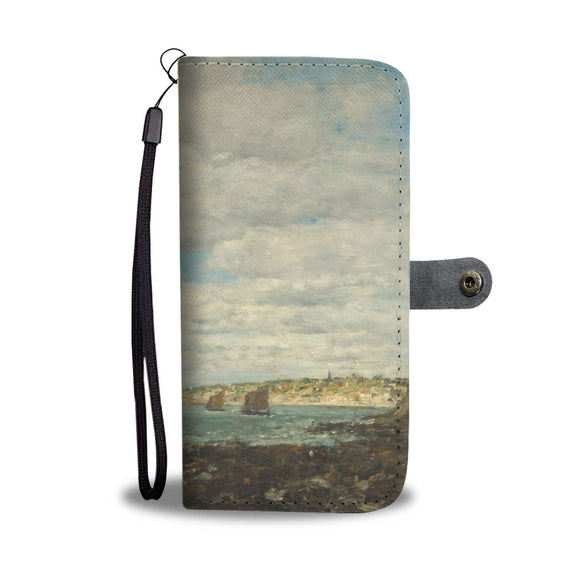 Coast of Brittany by Boudin - Wallet Phone Case