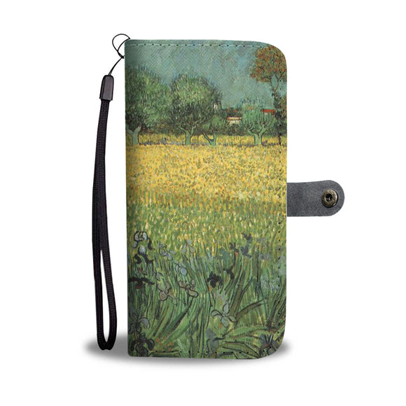View of Arles with Irises by van Gogh - Wallet Phone Case