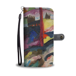 Landscape with Factory Chimney by Kandinsky - Wallet Phone Case