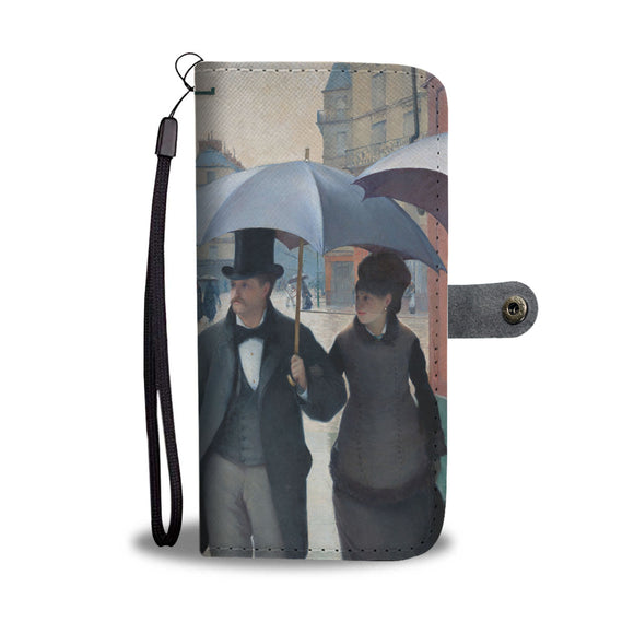 Paris Street, Rainy Day by Caillebotte - Wallet Phone Case