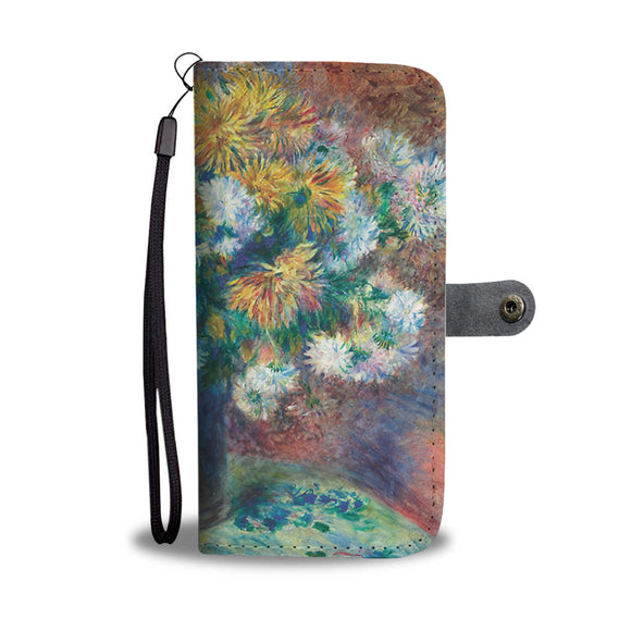 Chrysanthemums by Renoir - Wallet Phone Case