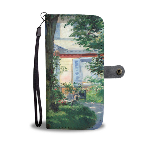 House in Rueil by Manet - Wallet Phone Case