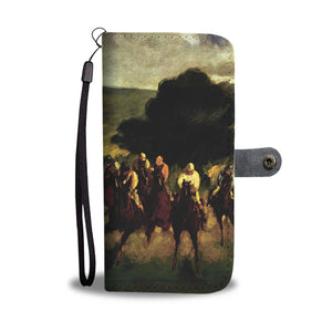 The Races at Longchamp by Manet - Wallet Phone Case