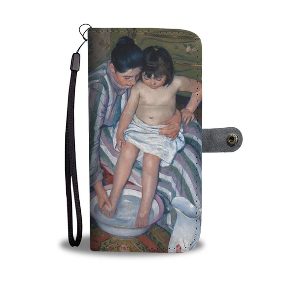 The Child's Bath by Cassatt - Wallet Phone Case