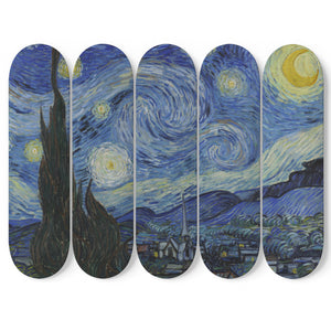 Starry Night by van Gogh 5x Skateboard Wall Art