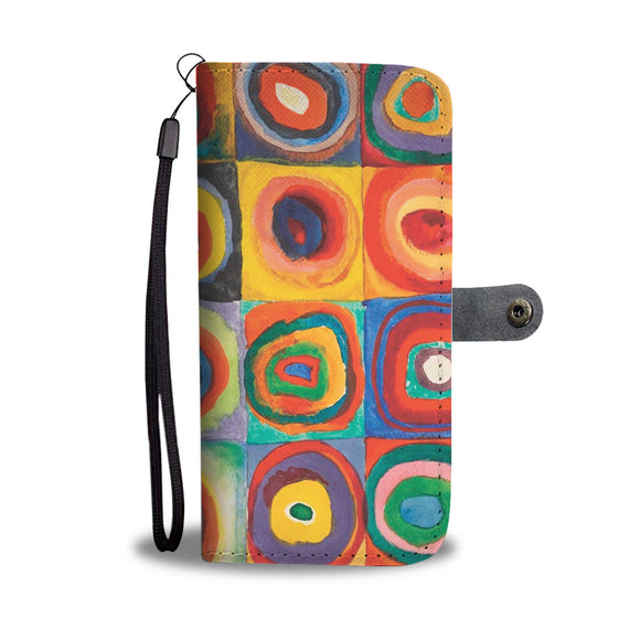 Squares with Concentric Circles by Kandinsky - Wallet Phone Case