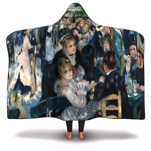 Dance at le Moulin de la Galette by Renoir - Hooded Blankets