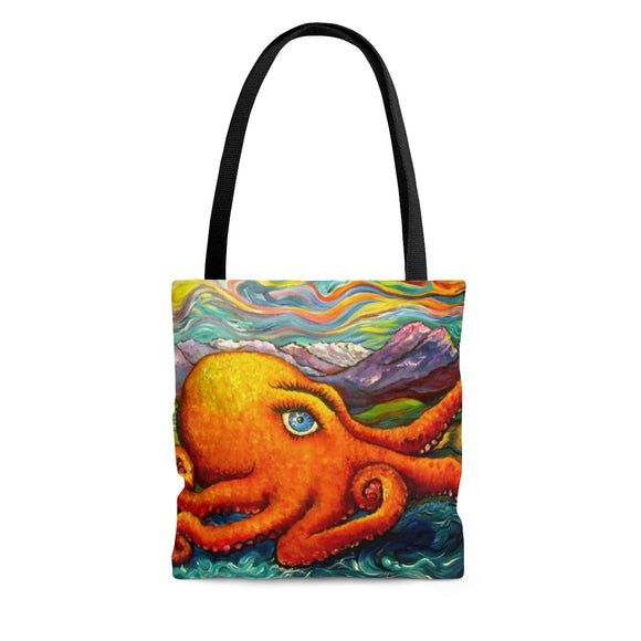 Octopi Port Angeles by Tocher - Cloth Tote Bag