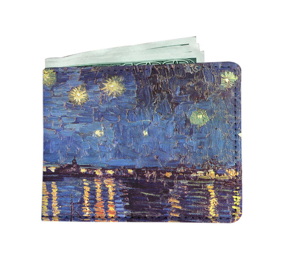 Starry Night over the Rhone by van Gogh - Men's Wallet