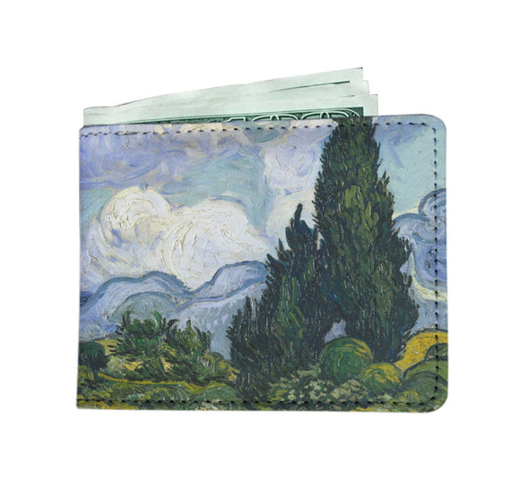 Wheat Field with Cypresses by van Gogh - Men's Wallet