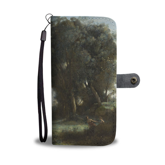 A Morning: The Dance of the Nymphs by Corot - Wallet Phone Case