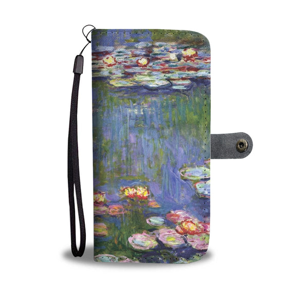 Water Lilies by Monet (1916) - Wallet Phone Case
