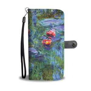 Water Lilies by Monet (1919) - Wallet Phone Cae