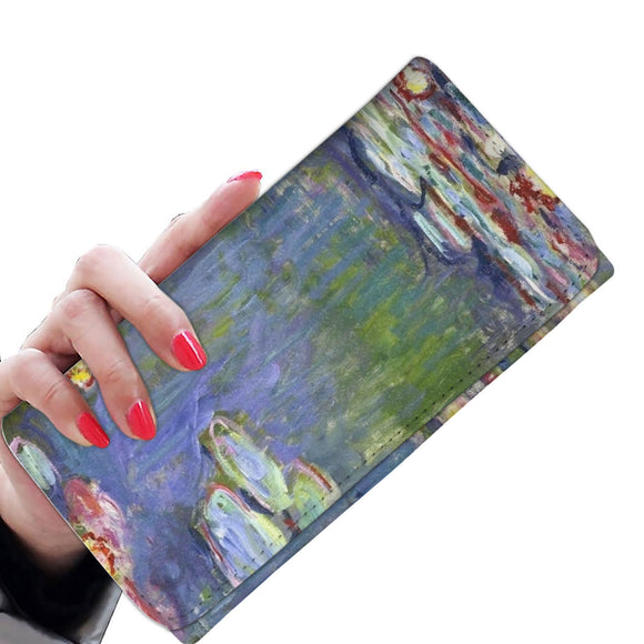 Water Lilies (1916) by Monet - Women's Wallet Clutch