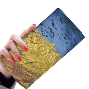 Wheatfield with Crows by van Gogh - Women's Wallet Clutch