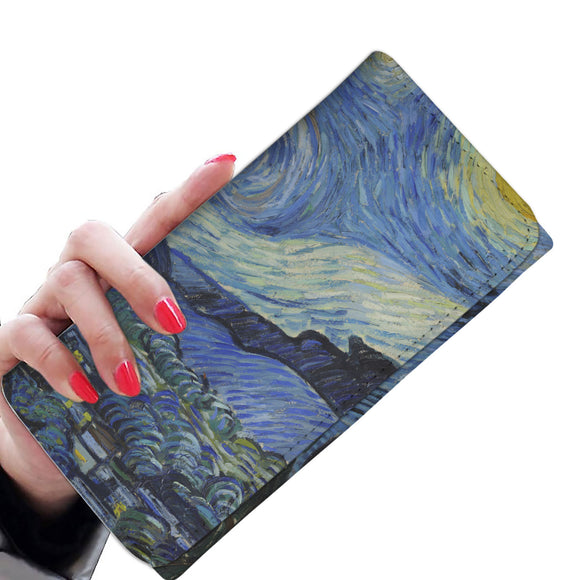 Starry Night by van Gogh - Women's Wallet Clutch