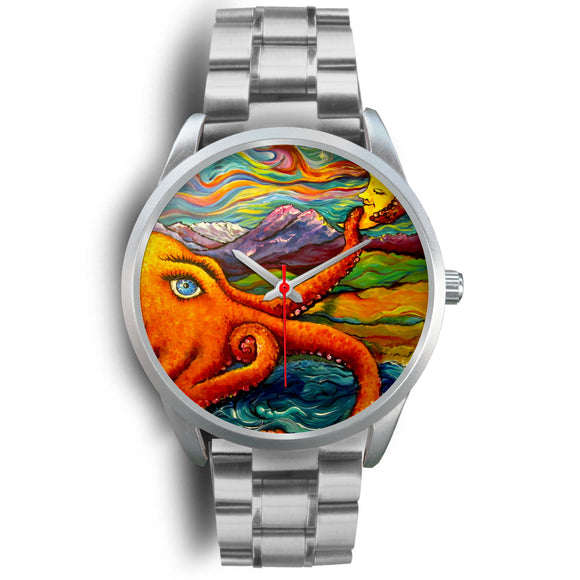 Octopi Port Angeles by Tocher - Silver Watch