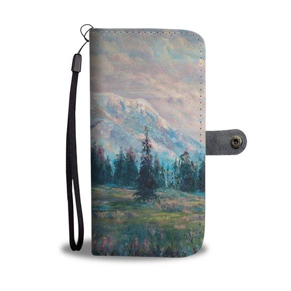 The Pinks of Rainier by Pierce - Wallet Phone Case