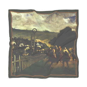 The Races at Longchamp by Manet - Poly Scarves