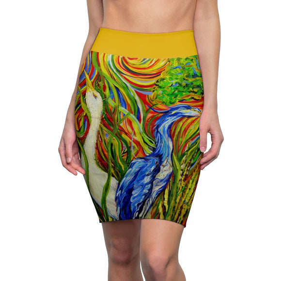 Wetlands 2 by Tocher - Pencil Skirt