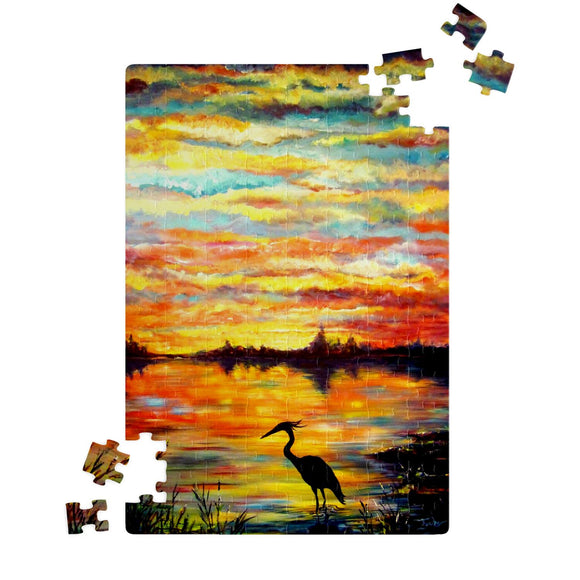 Heron Sunset by Tocher - Jigsaw Puzzles