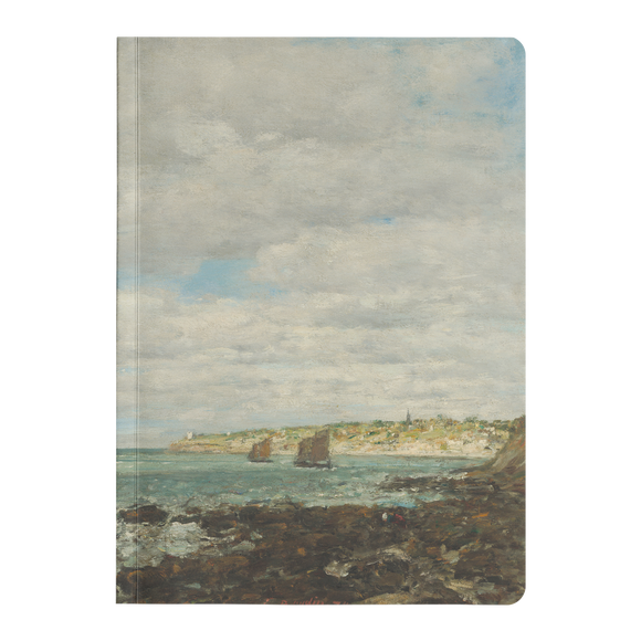 Coast of Brittany by Boudin - Paperback Journal