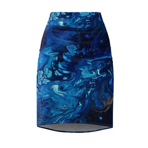 Introspection by DeScala - Women's Pencil Skirt