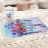 Flowers on Rail by Lumens - Jigsaw Puzzles