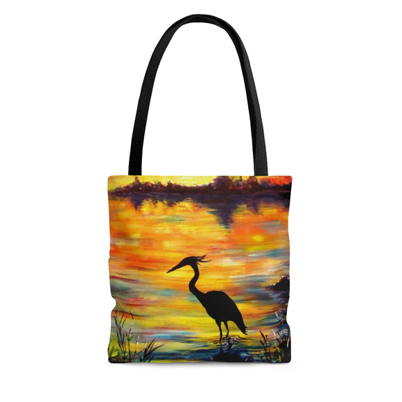 Heron Sunset by Tocher - Cloth Tote Bag