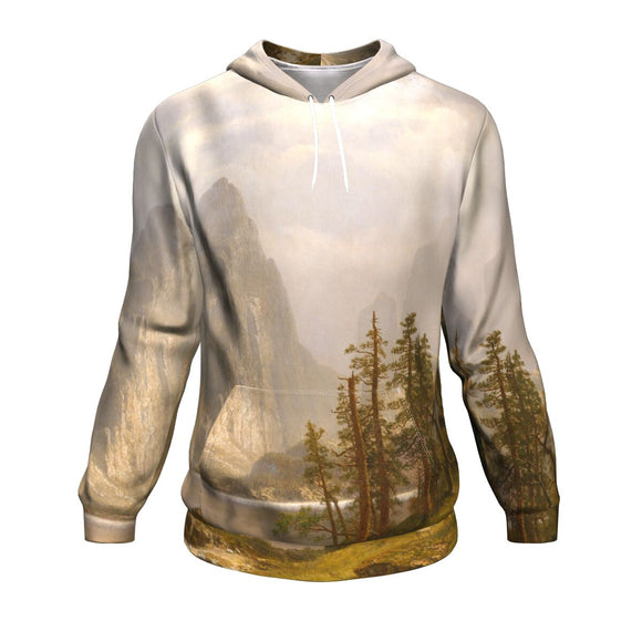 Merced River, Yosemite Valley by Bierstadt - Hoodie