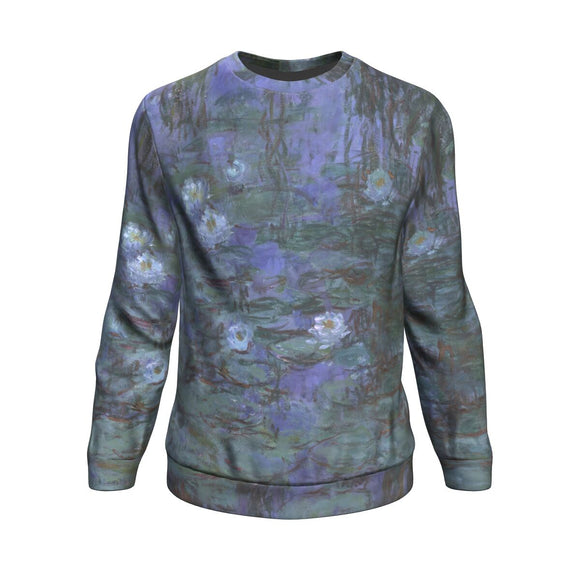 Blue Water Lilies by Monet - Sweatshirt