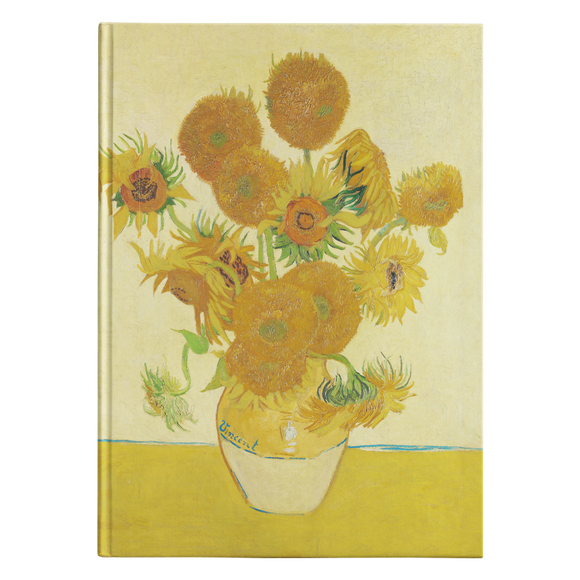 Sunflowers by van Gogh - Hardcover Journal