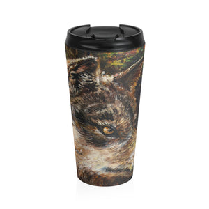 Wolf by Tocher - Stainless Steel Travel Mug