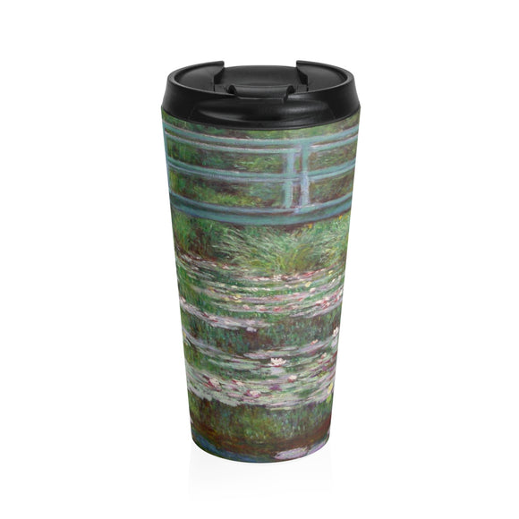Japanese Footbridge by Monet - Stainless Steel Travel Mug